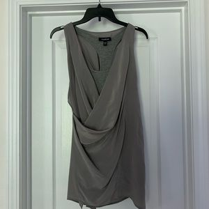 Bebe Gray Blouse Size:S.